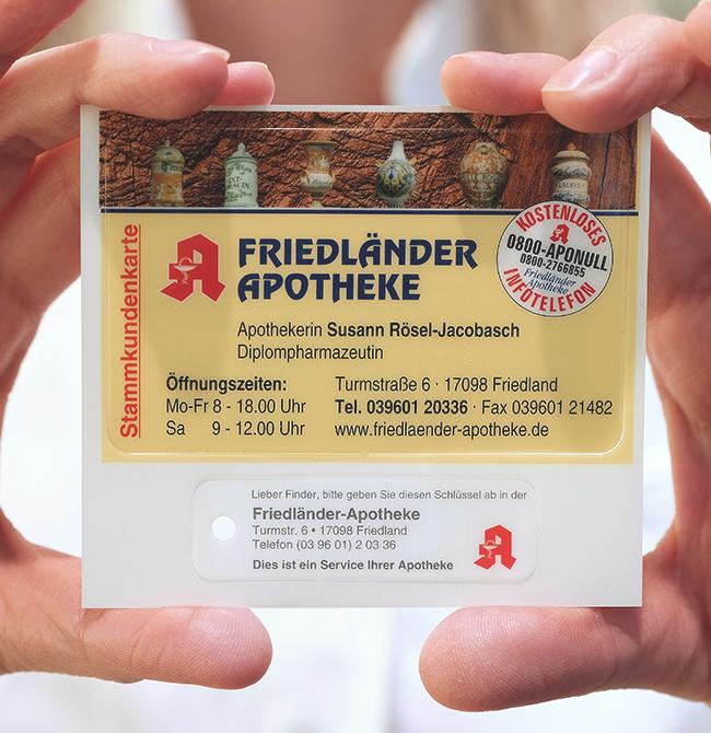 Kundenkarte der Friedländer Apotheke
