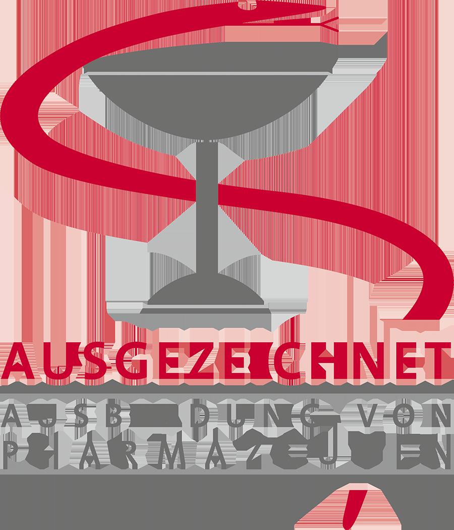 Logo Ausgezeichnet - Ausbildung von Pharmazeuten
